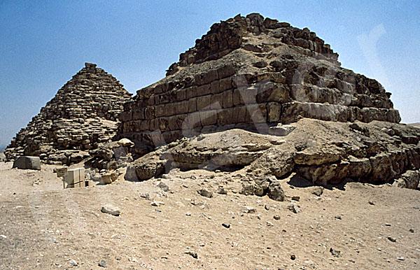 Mykerinos-Pyramide: Ecke, Bild-Nr. Grßansicht: 41a/1