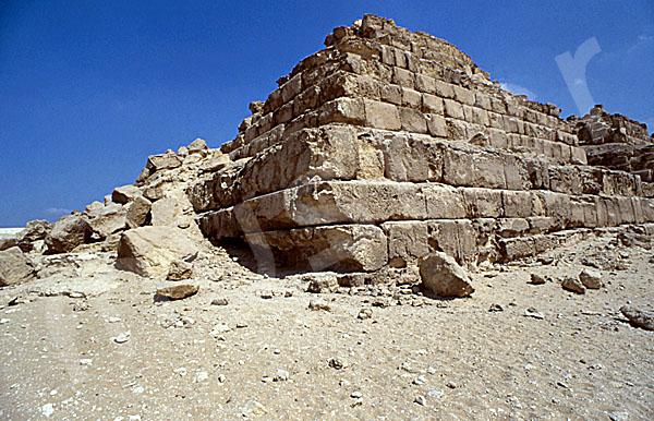 Mykerinos-Pyramide: Ecke, Bild-Nr. Grßansicht: 41a/10
