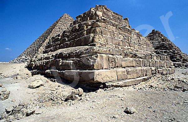 Mykerinos-Pyramide: Ecke, Bild-Nr. Grßansicht: 41a/2