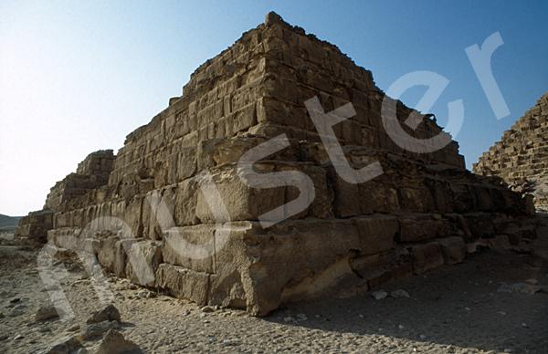 Mykerinos-Pyramide: Ecke, Bild-Nr. Grßansicht: 41a/3