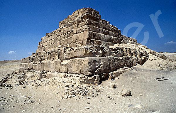 Mykerinos-Pyramide: Ecke, Bild-Nr. Grßansicht: 41a/5