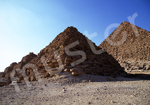 Mykerinos-Pyramide: Ecke, Bild-Nr. Grßansicht: 41b/2
