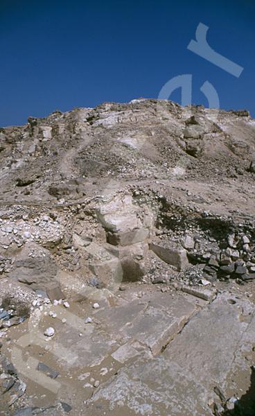 Radjedef-Pyramide: Ecke, Bild-Nr. Grßansicht: 10b/7