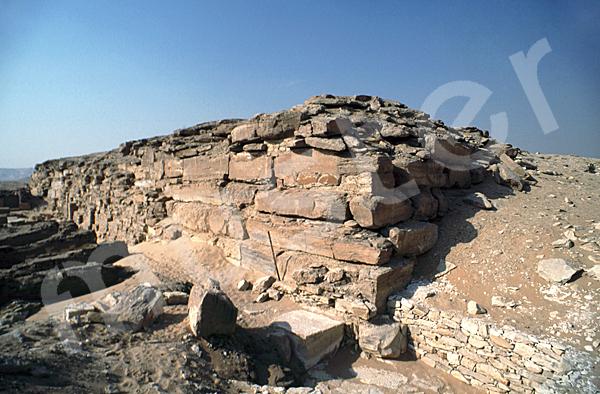 Raneferef-Pyramide: Ecke, Bild-Nr. Grßansicht: 160a/2