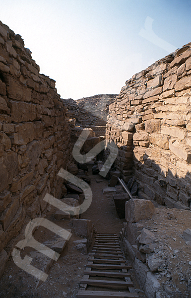Raneferef-Pyramide: Gang, Bild-Nr. Grßansicht: 160a/6