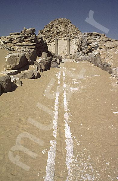 Sahure-Pyramide: Aufweg, Bild-Nr. Grßansicht: 120b/2