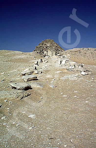 Sahure-Pyramide: Aufweg, Bild-Nr. Grßansicht: 120b/3