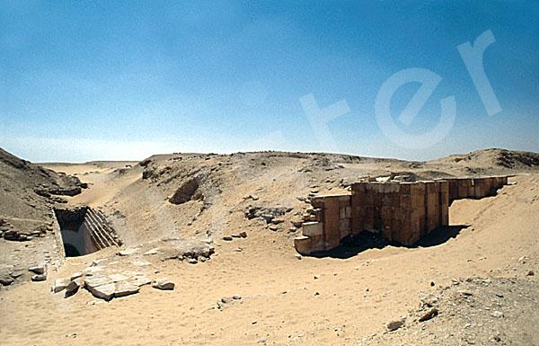 Sechemchet-Pyramide: Umfassungs- / Temenosmauer, Bild-Nr. Grßansicht: 220a/11