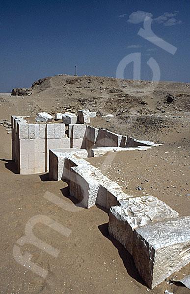 Sechemchet-Pyramide: Umfassungs- / Temenosmauer, Bild-Nr. Grßansicht: 220a/12