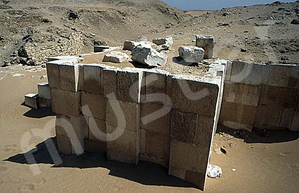Sechemchet-Pyramide: Umfassungs- / Temenosmauer, Bild-Nr. Grßansicht: 220a/14