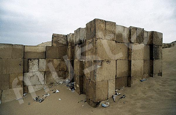 Sechemchet-Pyramide: Umfassungs- / Temenosmauer, Bild-Nr. Grßansicht: 220a/22