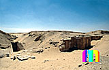 Sechemchet-Pyramide: Umfassungs- / Temenosmauer, Bild-Nr. 220a/11, Motivjahr: 1996, © fröse multimedia: Frank Fröse