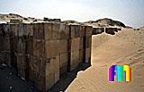 Sechemchet-Pyramide: Umfassungs- / Temenosmauer, Bild-Nr. 220a/13, Motivjahr: 1998, © fröse multimedia: Frank Fröse