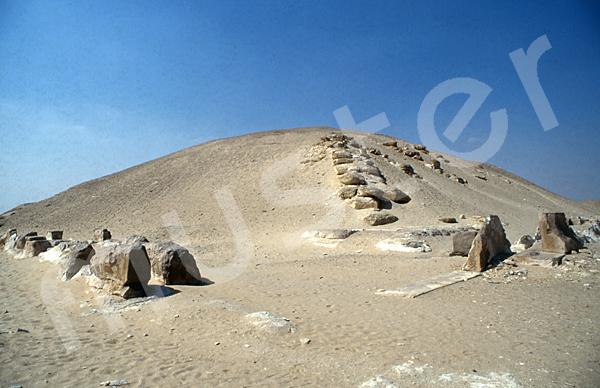 Sesostris-I.-Pyramide: Ecke, Bild-Nr. Grßansicht: 410a/1