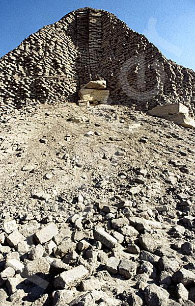 Sesostris-II.-Pyramide: Ecke, Bild-Nr. Grßansicht: 450a/4
