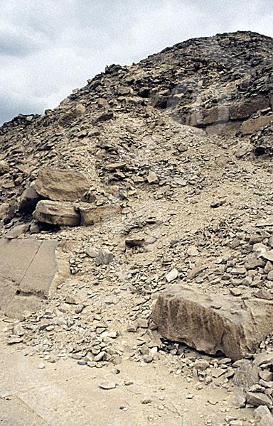 Unas Pyramide: Ecke, Bild-Nr. Grßansicht: 210a/42