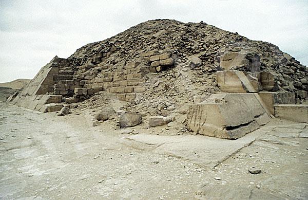 Unas Pyramide: Ecke, Bild-Nr. Grßansicht: 210a/43