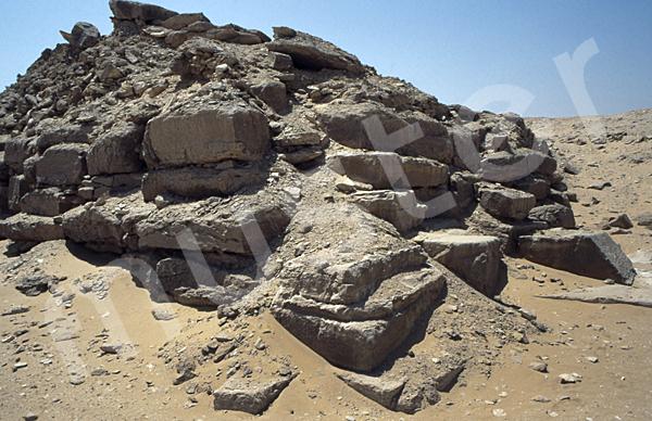 Userkaf-Pyramide: Ecke, Bild-Nr. Grßansicht: 190a/18