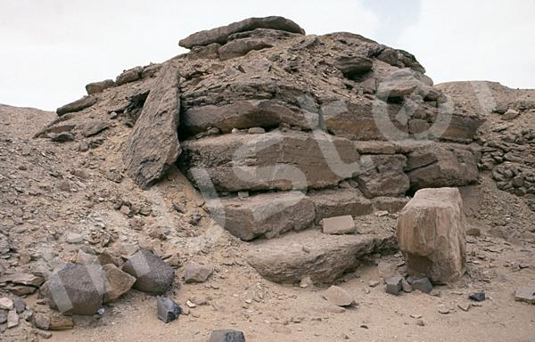 Userkaf-Pyramide: Ecke, Bild-Nr. Grßansicht: 190b/4