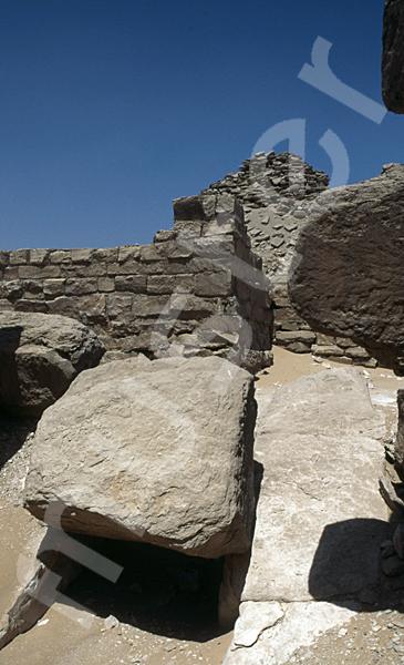 Userkaf-Pyramide: Gang, Bild-Nr. Grßansicht: 190a/24